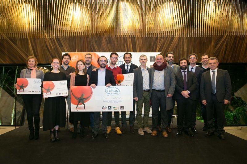 Incitus. Foto de familia finalistas, organización y patrocinadores