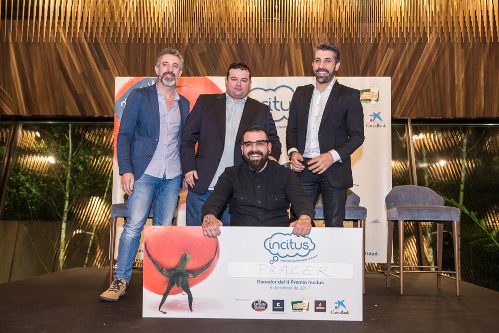 Pepe Solla, Marcos Morán y Xoan Crujeiras entregan el 2º Premio Incitus a Pracer
