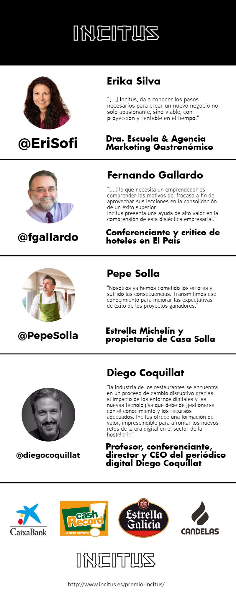 INFOGRAFÍA - Razones para participar en Incitus. Por Erika Silva, Diego Coquillat, Fernando Gallardo y Pepe Solla