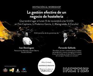 2º workshop Incitus, con Fernando Gallardo e Iván Domínguez