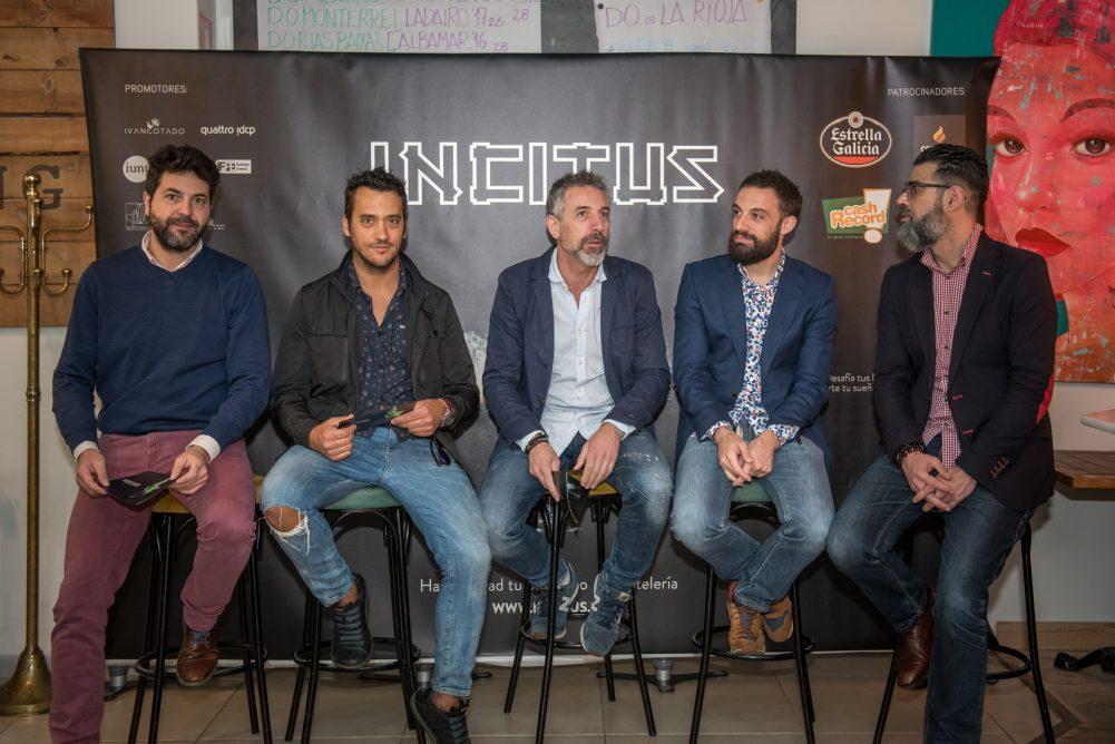 Presentación Incitus IV con Pepe Solla, Yayo Daporta y Juanjo Figueroa