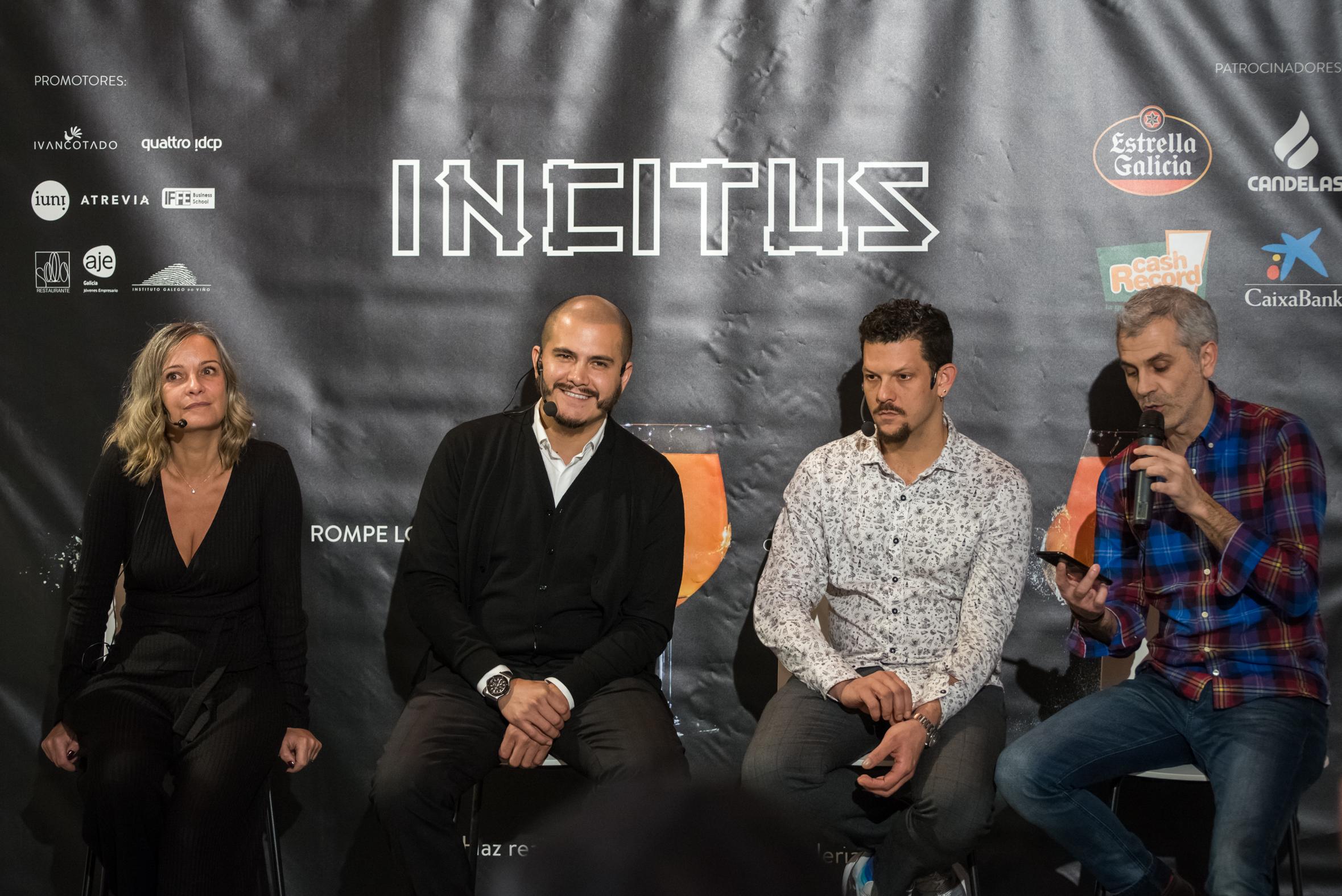 Eva Ballarín, Jon Giraldo, Jaime Lieberman y Orlando Cotado. Fotografía Gimena Berenguer