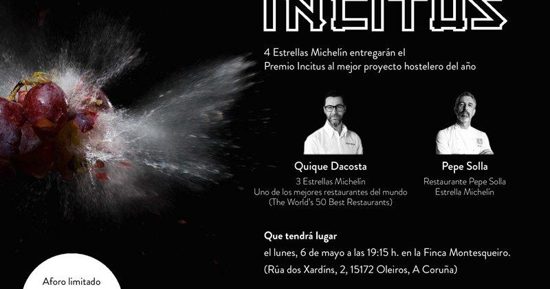 Quique Dacosta entregará el IV Premio Incitus al mejor proyecto hostelero de Galicia